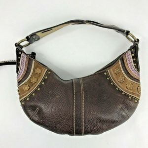 Coach Bags - Coach Brown Leather Suede Studs Hobo Hippie Braid